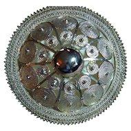 Big Domed Medallion Sterling Silver 925 Pendant