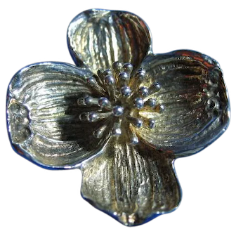 Tiffany & Co. 925 Sterling Silver Dogwood Brooch/Pin