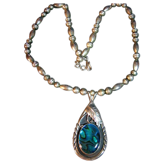 Sterling Silver Necklace Signed Native American Navajo RA Begay