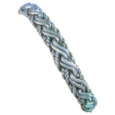 Byzantine Style Sterling Silver 925 Toggle Bracelet