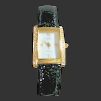 Jackie Kennedy Watch Gold Tone & Crystals by Camrose & Kross