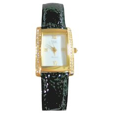 Jackie B. Kennedy Watch Gold Tone & Crystals by Camrose & Kross