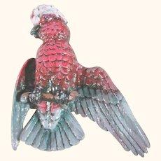 Vintage Weinberg Enamel Parrot Bird Brooch/Pin