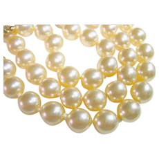 KJL Kenneth J. Lane Faux Pearl 3 Strand Necklace