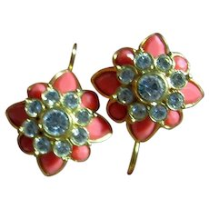Joan Rivers Pretty 12 Changeable Flower Pierced Earrings