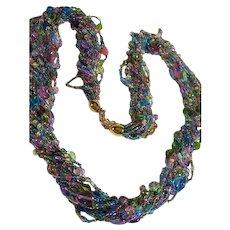 Joan Rivers Pastels Torsade Long Beaded Necklace