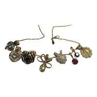 Signed Nolan Miller 8 Interchangeable Pendants Necklace