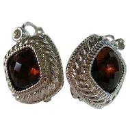 Joan Rivers 5 Interchangeable Colors Pierced Earrings