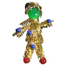 Jackie Kennedy Scarecrow Brooch/Pin