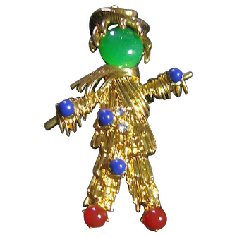 Scarecrow Jacqueline Bouvier Kennedy Brooch/Pin