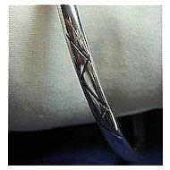 "Bangle Bracelet Big Size 8"" 925 Sterling Silver Solid Mexico"