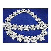 Vintage Silver Tone Classic Design Necklace & Bracelet Set