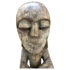 """Impressive 24"""" Vintage Wood carved African Statue"""