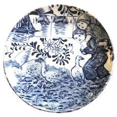 "Beautiful! Delft Blue Miniature Plate 4.25"" Round"