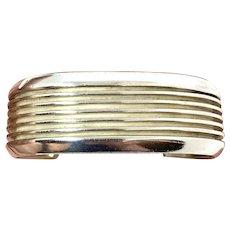 Felix Joe Signed Navajo Heavy Sterling Silver Cuff Bracelet