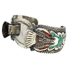 Tommy Singer Navajo Sterling Silver Turquoise Women's Watch Cuff