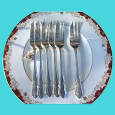 Dubarry Design - Pastry Forks - Silver Plated