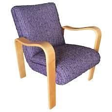 Pair of Thonet Bentwood Armchairs with Purple Seats