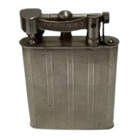 Post War Lift Arm Chrome Pocket Benzine Lighter by Reliance