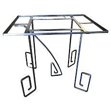 Rare Avant-garde Art Deco Scrolling Iron Dining Patio Table