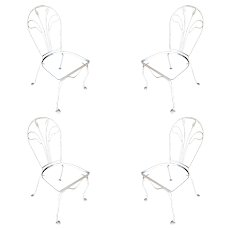 Salterini Tropical Leaf Iron Patio/Outdoor Lounge Chair, Set of Four