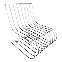 Chrome Wire Side Chair Designed by Verner Panton
