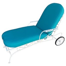 Steel Reclining Outdoor / Patio Chaise Lounge by Woodard