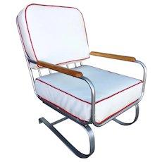 Chrome Art Deco Springer Rocking Chair