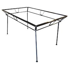Woodard Wrought Iron and Glass Art Deco Patio/Outdoor Table