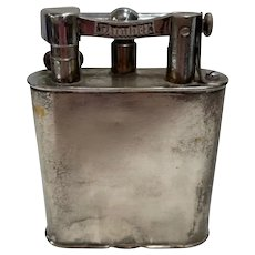 Rustic Silver Plate Lift Arm Table Lighter by Dunhill