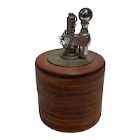 Mid Century Leather Round Table Lighter Chain Cover