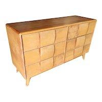 """Heywood-Wakefield """"Sculptura"""" Extra Wide 6 Drawer Dresser"""