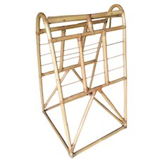 Restored Mid Century Rattan Arched Drying Rack