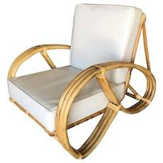 Restored 3/4 Round Pretzel Lounge Chair With Arch Base
