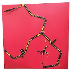 """Abstract """"Tronic Artey"""" Artography Large Mixed Media Sculpture by Pasqual Bettio"""
