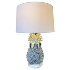 Ceramic Pine Apple Lamp with Large Shade w/ shade