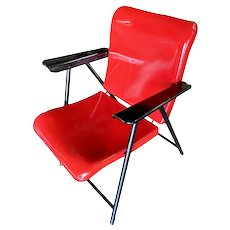 Russel Wright Outdoor/Patio Aluminum Folding Chair by Schwayder Bros, 8 Available