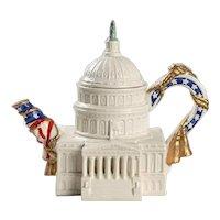 Fitz & Floyd U.S. Capitol Building Teapot