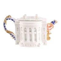 Fitz & Floyd White House Teapot
