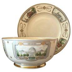 "Senator John Glenn ""Congressional"" Bowl and Plate Set by Lenox"