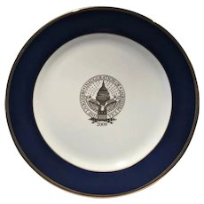Barrack Obama Inauguration Official Dinner Plate (2009)