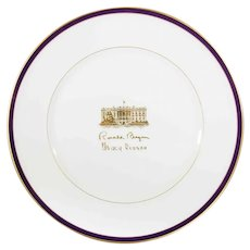 Ronald Reagan White House Gift Plate