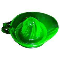 Uranium Green Glass Heavy Juicer