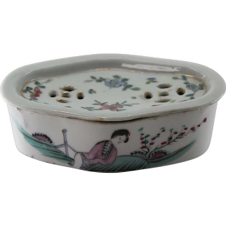 Chinese Cricket Cage Case Incense Soap Dish