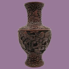 18th or 19th Century Cinnabar Vase
