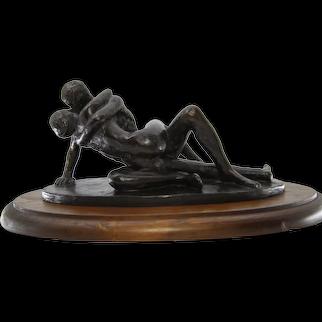 "Bronze Sculpture ""Lovers"" by Edward Fenno Hoffman III 1968 1/15 Scale"
