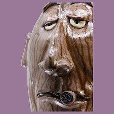 Dal Burtchaell Face Jug Cigar 17-Inches Tall!
