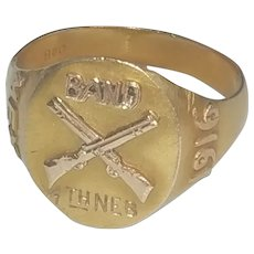 10K gold historical military ring Mexican American War