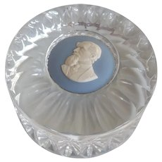Charles Dickens Wedgewood glass paperweight