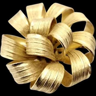 Grosse Vintage Ribbon Brooch Germany